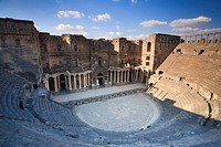 Syria, Bosra, ruins of the ancient Roman town a UNESCO site, Citadel and Theatre