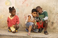 Cuba - Children in Habana Vieja, the Old Town of Cuba´s capital Havana