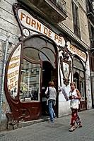 Sarret Bakery, 1898, Modernism, Barcelona, Catalonia, Spain.