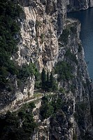 Biker´s group, lake Garda, Mountainbiking, Trentino, Italy, riding a bike, bicycle, bicycle, bike, biking, tour, sport, Alps, cliff, passport, street