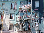 Fire stairs at a house in San Francisco, California, USA, North America