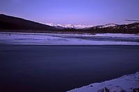 saskatchewan, water, south, river, ice, open