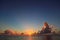 Sunset over sea, Saipan, Northern Mariana Islands