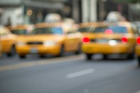 Taxis in Manhattan. New York City, New York, USA