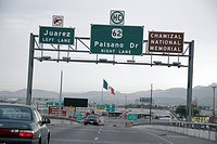 mexico, person, approaching, freeway, usa, people