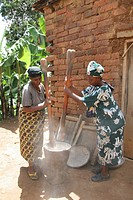 pounding, person, females, tanzania, women, people