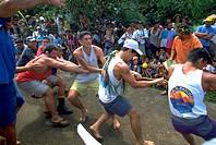 tugofwar, men, rope, pulling, males, sport