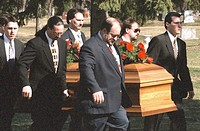 lake, carrying, crystal, grave, casket, pallbearers