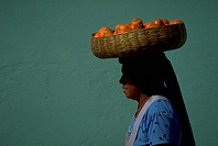 wearing, people, female, guatemalian, fruit, woman