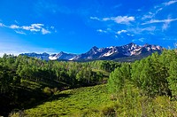 The Dallas Divide Sneffels Range in back, near RIdgway, Colorado USA
