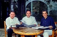 Bulli team Albert Adrià, Ferran Adrià and Juli Soler El Bulli restaurant Cala Montjoi  Roses Girona Catalonia Spain