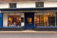 The famous Emmett's grocery and drapery shop store at Peasenhall in Suffolk , England , Great Britain , Uk