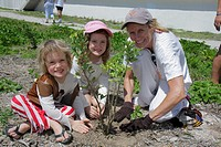 Florida, Miami Beach, Beach View Park, Surfrider Foundation, Coastal Dune Restoration, planting, volunteer, student, woman, girl, child, mother, siste...