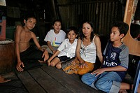 cambodia, people, children, person, house, family