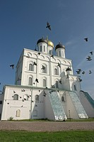 constructed, person, cathedral, trinity, russia, people