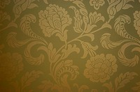 Close_up of Arts & Crafts style wallpaper
