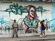 salvador, person, pelourinho, mural, brazil, people