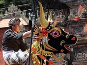 Indonesia, Bali, cremation ceremony, the cremation animal, bull figure,