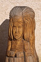 saskatchewan, head, scenic, craven, carving, indian