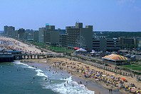 view, beach, virginia, beaches, aerial