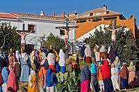 Live Holy week ´pasión´ at Riogordo  Málaga province  Andalucia  Spain