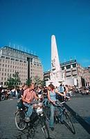 Bicikle Driver in Amsterdam