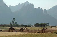 village, person, mountains, landscape, ethiopia, people