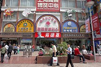 road, shopping, nanjing, china, person, people