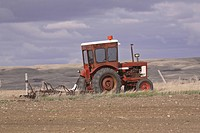 missouri, tractor, field, abandoned, implement, old