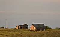 saskatchewan, farm, southern, scenic, buildings, old