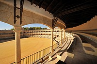bullfighting ring, arena, Ronda, Costa del Sol, province Malaga, Andalucia, Andalusia, Spain, Europe