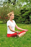Young woman doing yoga _ meditation