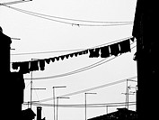 Italy, Venice, clothes on clothesline