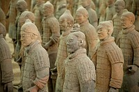 China, Xian, Terracotta Warriors in Museum of Qin