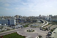 Egypt, Alexandria, view on port and Corniche