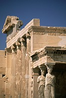 Greece, Athens, Acropolis, Erechteion with Porch of Caryatids