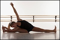 Dancer stretching