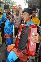 Denpasar (Bali, Indonesia): Muslim boys of a folkloristic group at the Bali Arts Festival's opening