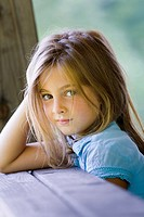 Sweet 6-year old girl portrait