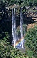 Waterfalls of Chamarel. Black river district, Mauritius Island, Indian Ocean