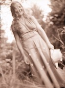 country girl in soft focus