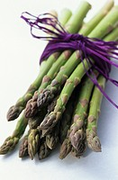 Tips of Bundled Asparagus