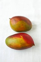 Two Mangos on White