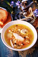Fish soup from Poland