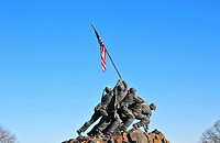 Iwo Jima Memorial statue near Washington DC