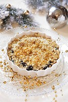 Plum crumble Christmas