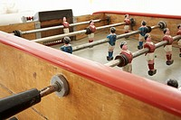 Old retro table football game