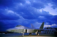 F-22 Raptor pilot, Capt  Brandon Zeurcher, performs pre-flight functions Jan  14 on the runway at Kadena Air Base, Japan  Six F-22s arrived Jan  10 as...