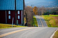 Barn and road in Thurmont Maryland