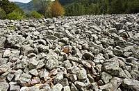 Stones, Arroyo del Enebral, Orea, Alto Tajo Natural Park, Guadalajara province, Castilla-La Mancha, Spain